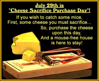 A poem dedicated to National Cheese Sacrifice Purchase Day